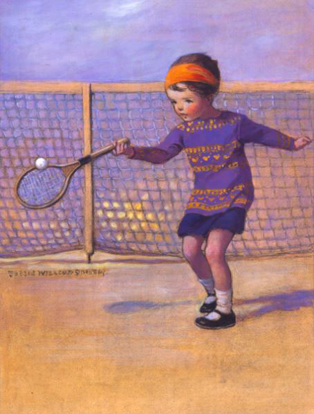 Young Tennis Player, Jessie Wilcox Smith