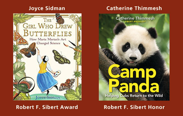 The Girl Who Drew Butterflies book cover and the Camp Panda book cover