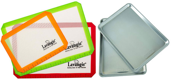Lavangie silicone mats and Nordic Ware baking sheets