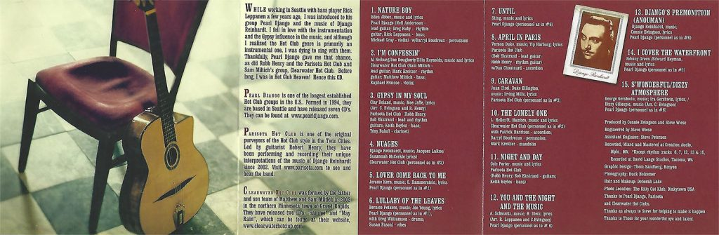 "Liner notes for Connie Evingson's ""Gypsy in My Soul"""
