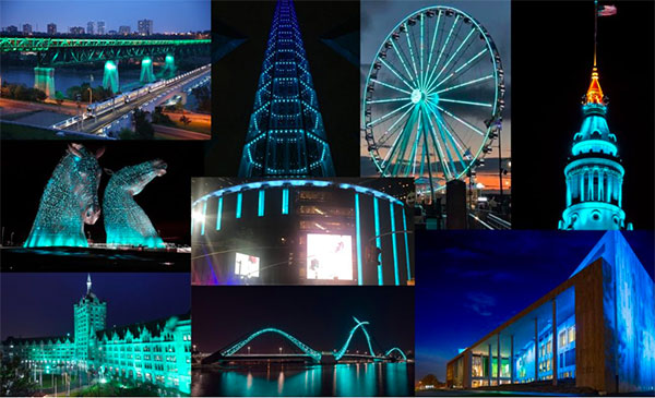 Light the World in Teal Day
