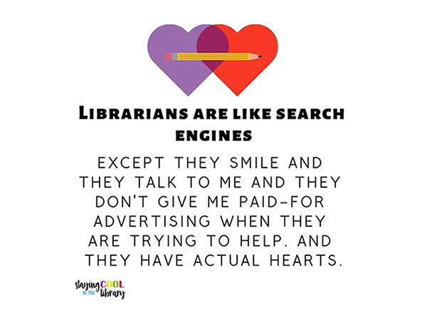 Librarians are like search engines