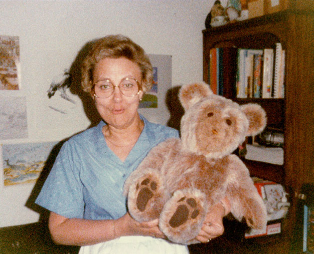 Mom with teddy bear Steve made