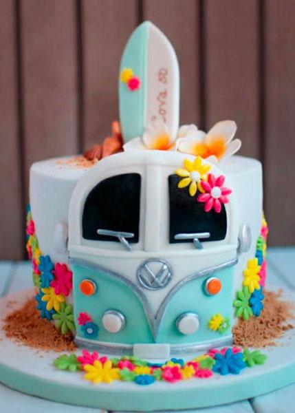 volkswagen poptop cake